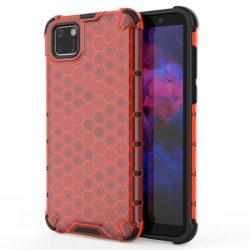 Honeycomb tok páncél telefontok TPU Bumper Huawei Y5p piros telefontok