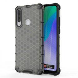 Honeycomb tok páncél telefontok TPU Bumper Huawei Y6p fekete telefontok