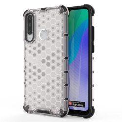 Honeycomb tok páncél telefontok TPU Bumper Huawei Y6p átlátszó telefontok