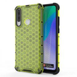 Honeycomb tok páncél telefontok TPU Bumper Huawei Y6p zöld telefontok