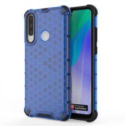 Honeycomb tok páncél telefontok TPU Bumper Huawei Y6p kék telefontok