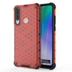 Honeycomb tok páncél telefontok TPU Bumper Huawei Y6p piros telefontok