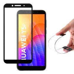 Wozinsky Full tok Flexi Nano üveg hybrid képernyővédő fólia kerettel Huawei Y6p fekete üvegfólia