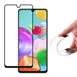 Wozinsky Full tok Flexi Nano üveg hybrid képernyővédő fólia kerettel Huawei Y5p fekete üvegfólia