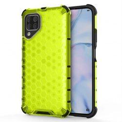 Honeycomb tok páncél telefontok TPU Bumper Huawei P40 Lite / Nova 7i / Nova 6 SE zöld telefontok