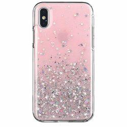 Wozinsky Star Glitter Shining tok Samsung Galaxy A20e rózsaszín telefontok
