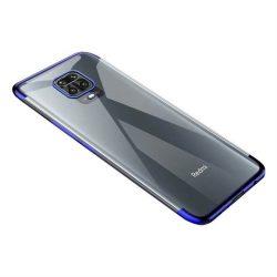 Clear Color Gel tok TPU galvanizált tok telefontok Xiaomi redmi Note 9 Pro / redmi Note 9s kék