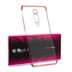 Clear Color Gel tok TPU galvanizált tok telefontok Xiaomi Mi 9T / Xiaomi Mi 9T Pro piros