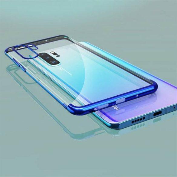 Clear Color Gel tok TPU galvanizált tok Huawei Nova 5T / Honor 20 / Honor 20 Pro / Honor 20S fekete telefontok