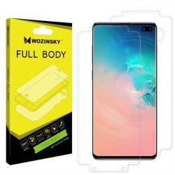 Wozinsky Full Body hidrogél önjavító 360 ° teljes képernyős képernyővédő fólia fólia Samsung Galaxy S10 Plus - Indisplay ujjlenyomat kompatibilis