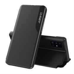 Eco Leather View tok elegáns Bookcase kihajtható tok kitámasztóval Samsung Galaxy S20 fekete telefontok