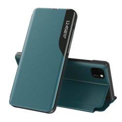 Eco Leather View tok elegáns Bookcase kihajtható tok kitámasztóval Huawei Y6p zöld telefontok