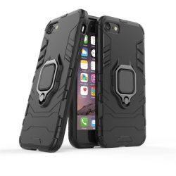 Ring Armor tok kitámasztható Kemény tok iPhone SE 2020 / iPhone 8 / iPhone 7 fekete telefontok