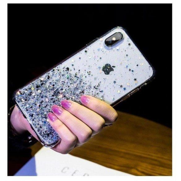 Wozinsky Star csillámos Shining tok Samsung Galaxy M30s kék