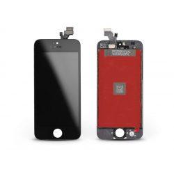 LCD kijelző érintőpanellel - Apple iPhone 5 - AAA kiváló minőségű, utángyártott - fekete