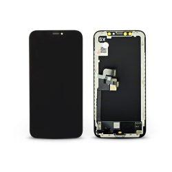 LCD kijelző érintőpanellel - Apple iPhone X - GX HQ Hard OLED kiváló minőségű, utángyártott - fekete