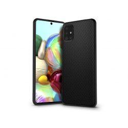 Samsung A715F Galaxy A71 hátlap - Liquid Air - fekete
