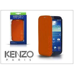 Samsung i9500 Galaxy S4 flipes bőrtok - Kenzo GlossyCox - orange