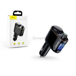 Baseus Bluetooth FM-transmitter/szivargyújtó töltő - 2xUSB + MP3 - Baseus RH01/S05 - black