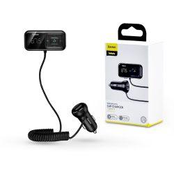 Baseus Bluetooth FM-transmitter/szivargyújtó töltő - 2xUSB + MP3 + TF/microSD kártyaolvasó - Baseus S-16/CCTM-E01 - black