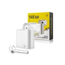 TWS Bluetooth sztereó headset v5.0 + töltőtok - TWS D012A True Wireless Earphones - white