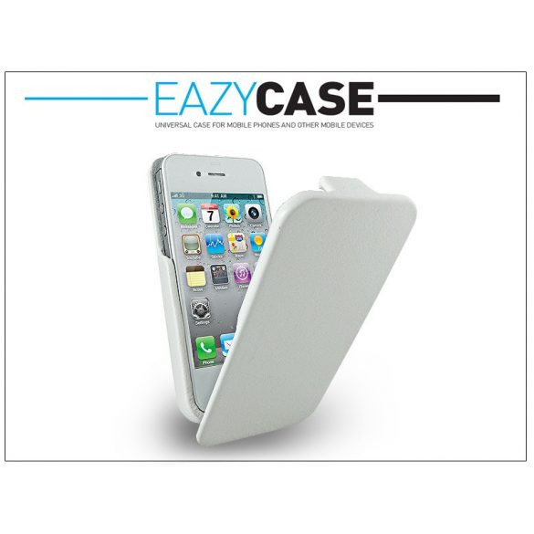 Eazy Case exclusive Slim Flip tok - Apple iPhone 4/4S - fehér
