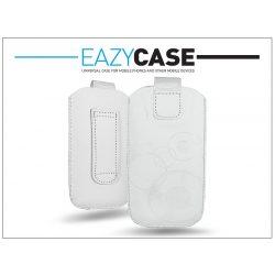DECO SLIM univerzális bőrtok - Apple iPhone 5/5S/SE - fehér - 18. méret
