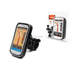 Univerzális kerékpárra/motorkerékpárra szerelhető, vízálló telefontartó - Extreme-155