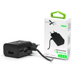 Extreme hálózati töltő Type-C kábellel + USB csatlakozóval - 5V/2.4A - Extreme LAD0242 - fekete