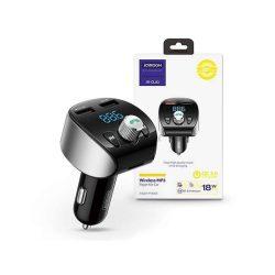 Joyroom Bluetooth FM-transmitter / szivargyújtó töltő - 2xUSB + MP3 + TF-kártyaolvasó + PD/QC3.0 - Joyroom JR-CL02 - black