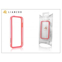 Apple iPhone 5/5S/SE védőkeret - Bumper - Gecko Lianzoo - clear/red