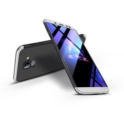 Samsung J600F Galaxy J6 (2018) hátlap - GKK 360 Full Protection 3in1 - fekete/ezüst