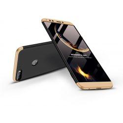 Huawei Y7 (2018)/Y7 Prime (2018)/Honor 7C hátlap  - GKK 360 Full Protection 3in1 - fekete/arany
