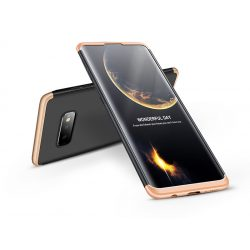 Samsung G970U Galaxy S10e hátlap - GKK 360 Full Protection 3in1 - fekete/arany