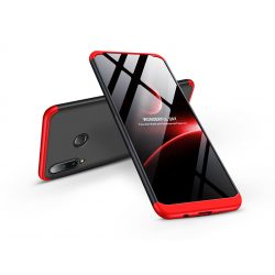 Huawei P30 Lite hátlap  - GKK 360 Full Protection 3in1 - fekete/piros