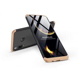 Huawei P30 Lite hátlap  - GKK 360 Full Protection 3in1 - fekete/arany