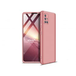 Samsung A715F Galaxy A71 hátlap - GKK 360 Full Protection 3in1 - rose gold