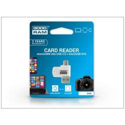 Goodram A020 OTG 2in1 microSD/microSDHC/microSDXC memóriakártya olvasó - microUSB és USB 2.0 csatlakozókkal
