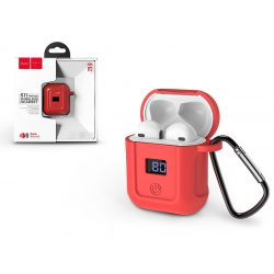 HOCO Bluetooth sztereó TWS headset v5.0 Apple Lightning + piros szilikon védőtok - HOCO S11 Melody Wireless Headset - fehér