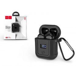 HOCO Bluetooth sztereó TWS headset v5.0 Apple Lightning + szilikon védőtok - HOCO S11 Melody Wireless Headset - fekete