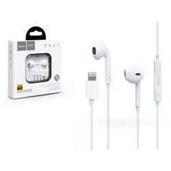 HOCO sztereó felvevős fülhallgató - Lightning and Bluetooth - HOCO L7 Plus Earpods for iPhone - fehér