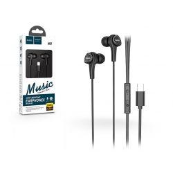 HOCO sztereó fülhallgató USB Type-C csatlakozóval - HOCO M67 Passion with Microphone - black
