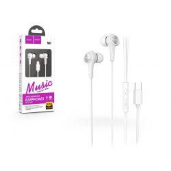 HOCO sztereó fülhallgató USB Type-C csatlakozóval - HOCO M67 Passion with Microphone - white