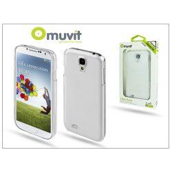 Samsung i9500 Galaxy S4 hátlap képernyővédő fóliával - Muvit Clear Back - transparent