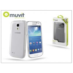 Samsung i9190 Galaxy S4 Mini hátlap - Muvit Clear Back - transparent