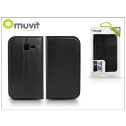 Samsung S7572 Galaxy Trend II Duos flipes tok kártyatartóval - Muvit Slim and Stand - black