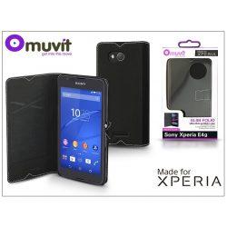 Sony Xperia E4G (E2003) flipes tok - Made for Xperia Muvit Slim Folio - black