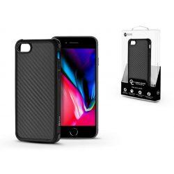 Apple iPhone 7/iPhone 8 szilikon hátlap - Roar Carbon Armor Ultra-Light Soft Case - fekete