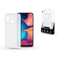 Samsung A202F Galaxy A20e szilikon hátlap - Roar Carbon Armor Ultra-Light Soft Case - clear