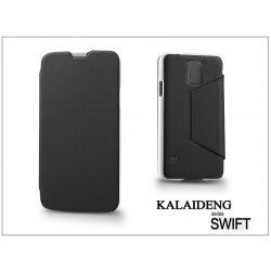 Samsung SM-G900 Galaxy S5 flipes tok - Kalaideng Swift Series - black